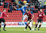 St Johnstone v St Mirren…27.10.18…   McDiarmid Park    SPFL<br />Murray Davidson is barged over by Paul McGinn for saints first penalty<br />Picture by Graeme Hart. <br />Copyright Perthshire Picture Agency<br />Tel: 01738 623350  Mobile: 07990 594431