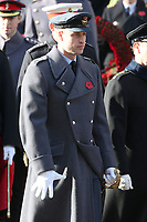 ***NO UK*** REF: MTX 193994 - Prince William, Duke of Cambridge attends the annual Remembrance Sunday memorial at The Cenotaph in London, England.  NOVEMBER 10th 2019. Credit: Trevor Adams/Matrix/MediaPunch