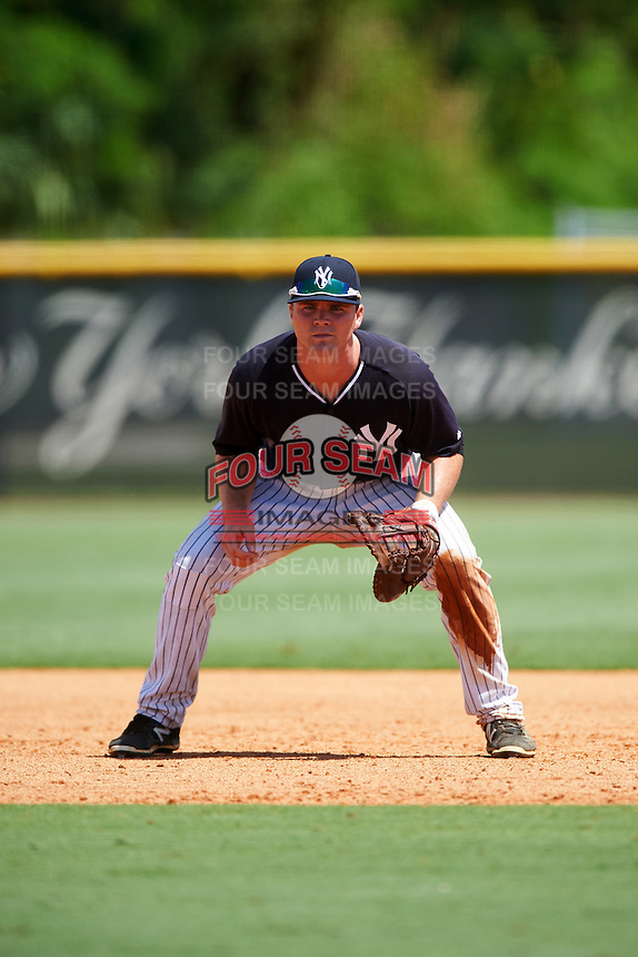 GCL Yankees East first baseman Ryan Krill (36) during a game against the GCL Yankees West on August 3, 2016 at the Yankees Complex in Tampa, Florida.  GCL Yankees East defeated GCL Yankees West 12-2.  (Mike Janes/Four Seam Images)