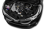 Car Stock 2017 Toyota C-HR C-Show 5 Door SUV Engine  high angle detail view