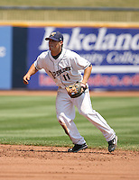 Adam Davis of the Lake County Captains vs. the Delmarva Shorebirds: June 14th, 2007 at Classic Park in Eastlake, OH.  Photo by Mike Janes/Four Seam Images