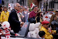 Défilé du 1er Juillet 1998<br />  organisé par le Dr Singh<br /> <br /> Montreal (Qc) CANADA - 1996 File Photo -Montreal (Qc) CANADA - July 1st 1998 File Photo - Canada Day parade organised by Dr Singh