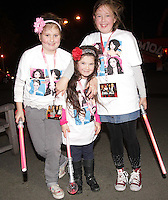 20/11/13<br /> Fans(L-R) Ciara Ingoldby(10), Lily Rose Sheridan (6) and Cautlin Openshaw (12) from Donaghmade pictured arriving to the Cheerios Childline Concert at the O2 Dublin this evening….<br /> Pic Collins Photos