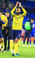 28th September 2021; Cardiff City Stadium, Cardiff, Wales;  EFL Championship football, Cardiff versus West Bromwich Albion; Kyle Bartley of West Bromwich Albion celebrates the 0-4 win