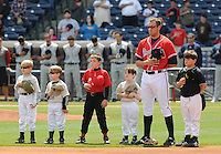 13 April 2008: Photo of the Mississippi Braves, Class AA affiliate of the Atlanta Braves, in a game against the Mobile BayBears at Trustmark Park in Pearl, Miss. Photo by:  Tom Priddy/Four Seam Images