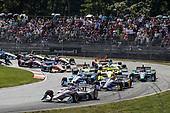 Will Power, Team Penske Chevrolet, Alexander Rossi, Andretti Autosport Honda, Josef Newgarden, Team Penske Chevrolet, start