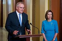 Nancy Pelosi (Democrat of California) meets with Scott Morrison MP, Prime Minister of Australia at t