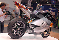 - EICMA 2007, 65th International Motorcycle Exhibition..electric powered motorcycle....- EICMA 2007, 65° Salone Internazionale del Motociclo..motocicletta elettrica..