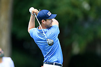 4th September 2020, Atlanta GA, USA;  Harris English tees off during the first round of the TOUR Championship  at the East Lake Golf Club in Atlanta, GA.