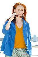 Audrey Fleurot pose lors du photocall d ENGRENAGES pendant le MIPTV a Cannes, le lundi 3 avril 2017.