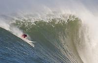 Evan Slater. Mavericks Surf Contest in Half Moon Bay, California on February 13th, 2010.