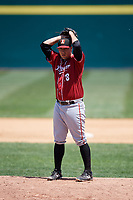 Altoona Curve relief pitcher Tate Scioneaux (18) gets ready to deliver a pitch during a game against the Binghamton Rumble Ponies on June 14, 2018 at NYSEG Stadium in Binghamton, New York.  Altoona defeated Binghamton 9-2.  (Mike Janes/Four Seam Images)