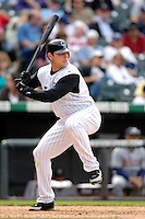 10 September 2006: Matt Holliday, outfielder for the Colorado Rockies, in action against the Washington Nationals. The Rockies defeated the Nationals 13-9 at Coors Field in Denver, Colorado...Mandatory Photo Credit: Ed Wolfstein.