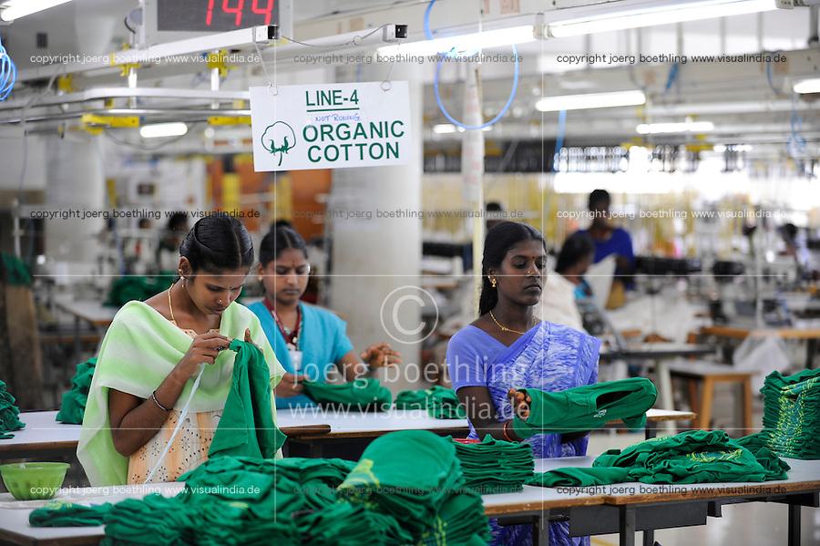 INDIA Tirupur , fair trade textile units , Armstrong Knitting Mills produces organic and fairtrade garments for Export / INDIEN Tamil Nadu, Tirupur,  fairtrade Textilbetriebe , Herstellung von oekologischen und fair gehandelten Textilien bei Armstrong Knitting Mills fuer den Export
