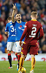 11.11.18 Rangers v Motherwell: Two coals for man of the match Eros Grezda
