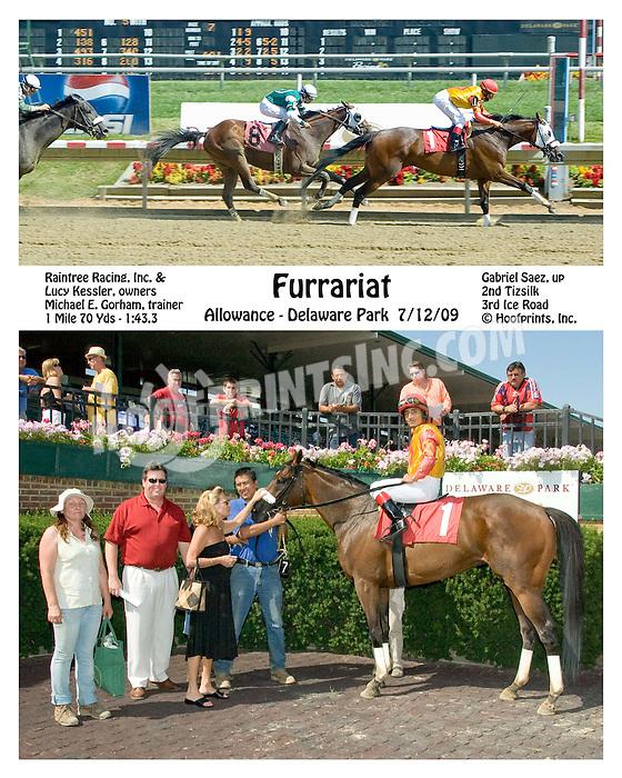 Furrariat winning at Delaware Park on 7/12/09
