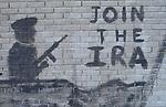 Belfast The Troubles. 1980s. IRA graffiti