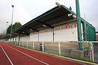 A general view of the East Side of the ground - AFC Hornchurch vs Wingate & Finchley - Ryman League Premier Division Football at Hornchurch Stadium, Bridge Avenue, Upminster, Essex - 30/11/13 - MANDATORY CREDIT: Gavin Ellis/TGSPHOTO - Self billing applies where appropriate - 0845 094 6026 - contact@tgsphoto.co.uk - NO UNPAID USE