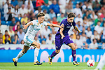 Federico Chiesa (r) of ACF Fiorentina fights for the ball with Marcos Llorente of Real Madrid during the Santiago Bernabeu Trophy 2017 match between Real Madrid and ACF Fiorentina at the Santiago Bernabeu Stadium on 23 August 2017 in Madrid, Spain. Photo by Diego Gonzalez / Power Sport Images