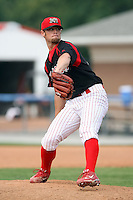 August 25 2008:  Pitcher Adam Reifer of the Batavia Muckdogs, Class-A affiliate of the St. Louis Cardinals, during a game at Dwyer Stadium in Batavia, NY.  Photo by:  Mike Janes/Four Seam Images
