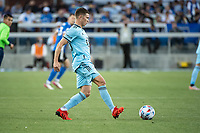 SAN JOSE, CA - AUGUST 17: Wil Trapp #20 of Minnesota United dribbles the ball during a game between San Jose Earthquakes and Minnesota United FC at PayPal Park on August 17, 2021 in San Jose, California.