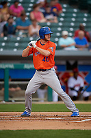 Syracuse Mets Drew Gagnon (40) bats during an International League game against the Indianapolis Indians on July 16, 2019 at Victory Field in Indianapolis, Indiana.  Syracuse defeated Indianapolis 5-2  (Mike Janes/Four Seam Images)
