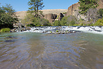 Rowing up the White River from its confluence with the Deschutes.