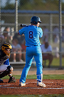 Carter Holton (8) during the WWBA World Championship at Lee County Player Development Complex on October 11, 2020 in Fort Myers, Florida.  Carter Holton, a resident of Guyton, Georgia who attends Benedictine Military School, is committed to Vanderbilt.  (Mike Janes/Four Seam Images)