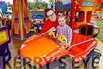 Freya Cooney with her mom Keidine Lacey from Tralee enjoying Birds Amusements on Saturday.