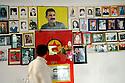 Iraq 2009.Photos of PKK fighters killed , martyrs, with a portrait of Abdulla Ocalan in Candil   Irak 2009. Photos de combattants du PKK tues au combat avec un portrait de Abdulla Ocalan a Candil