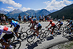 Part of the 34 man breakaway group climb Col de Vars during Stage 18 of the 2019 Tour de France running 208km from Embrun to Valloire, France. 25th July 2019.<br /> Picture: ASO/Pauline Ballet | Cyclefile<br /> All photos usage must carry mandatory copyright credit (© Cyclefile | ASO/Pauline Ballet)