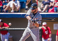 16 March 2014: Detroit Tigers outfielder Trevor Crowe in action during a Spring Training Game against the Washington Nationals at Space Coast Stadium in Viera, Florida. The Tigers edged out the Nationals 2-1 in Grapefruit League play. Mandatory Credit: Ed Wolfstein Photo *** RAW (NEF) Image File Available ***