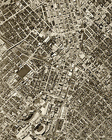 historical aerial photograph Dallas, Texas, 1952