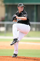 April 14, 2009:  Pitcher Tom Koehler of the Florida Marlins extended spring training team delivers a pitch during a game at Roger Dean Stadium Training Complex in Jupiter, FL.  Photo by:  Mike Janes/Four Seam Images