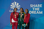 Wales Chloe Tutton wins Bronze in the Womans 200m Breaststroke final<br /> <br /> *This image must be credited to Ian Cook Sportingwales and can only be used in conjunction with this event only*<br /> <br /> 21st Commonwealth Games - Swimming - Day 3 - 07\04\2018 - Gold Coast Optus Aquatic centre - Gold Coast City - Australia
