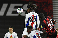 Eberechi Eze of Crystal Palace wins a header from Nnamdi Ofoborh of Bournemouth during AFC Bournemouth vs Crystal Palace, Carabao Cup Football at the Vitality Stadium on 15th September 2020