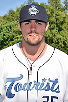 Asheville Tourists pitcher Ben Bowden (35) before a game against the West Virginia Power at McCormick Field on June 24, 2016 in Asheville, North Carolina. The Power defeated the Tourists 11-3. (Tony Farlow/Four Seam Images)
