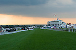 Derby Day Horse Racing. Epsom Downs, Surrey, England 2007. End of the days racing.
