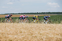 yellow jersey Mathieu van der Poel (NED/Alpecin Fenix) in the breakaway<br /> <br /> <br /> Stage 7 from Vierzon to Le Creusot (249.1km)<br /> 108th Tour de France 2021 (2.UWT)<br /> <br /> ©kramon