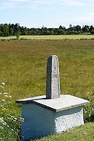 Kilometerstein bei Lärbro  auf der Insel Gotland, Schweden, Europa<br /> milestone nearLärbro, Isle of Gotland Sweden