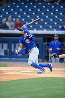 ***Temporary Unedited Reference File***Iowa Cubs shortstop Kristopher Negron (19) during a game against the Nashville Sounds on May 3, 2016 at First Tennessee Park in Nashville, Tennessee.  Iowa defeated Nashville 2-1.  (Mike Janes/Four Seam Images)