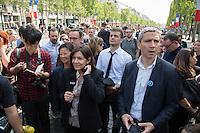 ANNE HIDALGO - LES CHAMPS-ELYSEES RENDUS AUX PIETONS UN DIMANCHE PAR MOIS