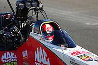 Jul 29, 2017; Sonoma, CA, USA; NHRA top fuel driver Doug Kalitta during qualifying for the Sonoma Nationals at Sonoma Raceway. Mandatory Credit: Mark J. Rebilas-USA TODAY Sports