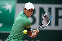 4th July 2021; Roland Garros, Paris France; French Open tennis championships day 6;  Kei Nishikori ( Japan )