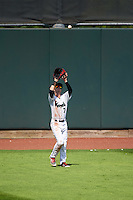 Cedar Rapids Kernels center fielder Casey Scoggins (7) catches a fly ball during a game against the Dayton Dragons on July 24, 2016 at Perfect Game Field in Cedar Rapids, Iowa.  Cedar Rapids defeated Dayton 10-6.  (Mike Janes/Four Seam Images)