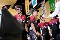 Geraint Thomas (GBR/Team Ineos) at the pre stage sign on. <br /> <br /> Stage 16: Nimes to Nimes (177km)<br /> 106th Tour de France 2019 (2.UWT)<br /> <br /> ©kramon