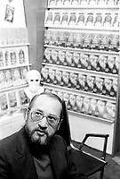 UNDATED FILE  PHOTO -   writer Placide Gadoury<br /> in the seventies at Montreal's book fair<br /> <br /> Photo : AQP - Alain Renaud