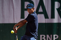 6th June 2021; Roland Garros, Paris France; French Open tennis championships day 8;  Juncheng Shang ( CHI)
