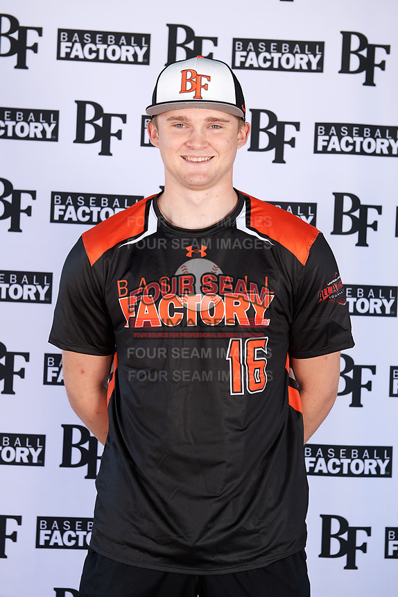 Brenden Murray (16) of Pioneer High School in West Sacramento, California during the Baseball Factory All-America Pre-Season Tournament, powered by Under Armour, on January 12, 2018 at Sloan Park Complex in Mesa, Arizona.  (Mike Janes/Four Seam Images)