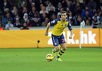 Sunday 09 November 2014 <br /> Pictured: Mathieu Flamini of Arsenal<br /> Re: Barclays Premier League, Swansea City FC v Arsenal City at the Liberty Stadium, Swansea, Great Britain.